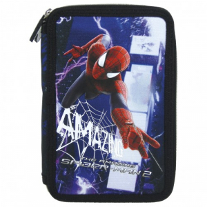 Penar scoala, echipat, dublu(2 compartimente), Baieti, Amazin Spiderman0