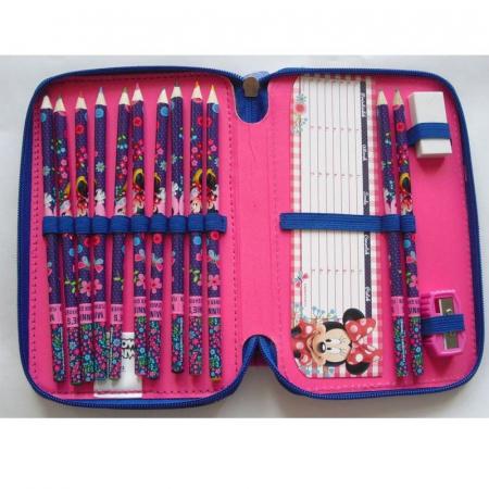 Penar scoala, echipat, dublu(2 compartimente), Fete, Minnie Mouse [1]