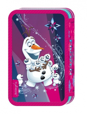 Penar scoala, echipat, triplu (3 compartimente), Fete, Disney Frozen0