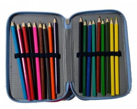 Penar scoala, echipat, triplu (3 compartimente), Fete, Disney Frozen1