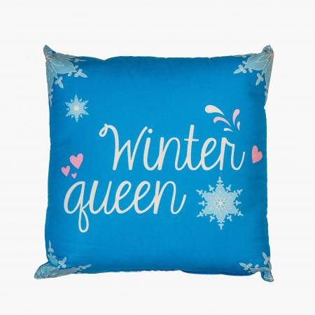 Perna decorativa Frozen , 42x42 cm, albastru1