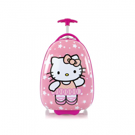 Troler calatorie ABS Copii - Fete,Hello Kitty, Roz, 46 cm1
