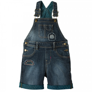 SALOPETA BLUGI SCURTI LIGHT WASH DENIM0