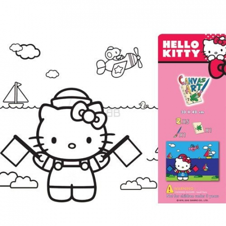 SET PICTURA CU TABLOU HELLO KITTY3