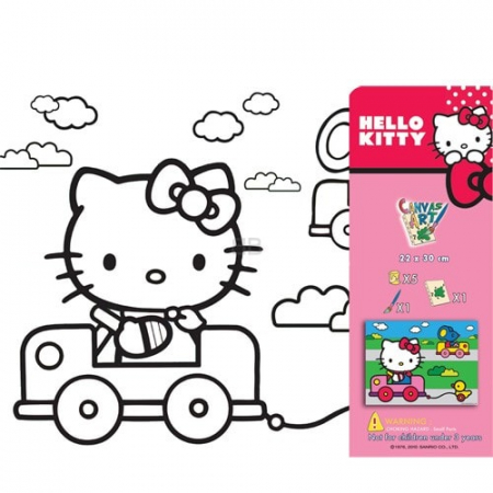 SET PICTURA CU TABLOU HELLO KITTY0