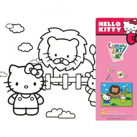 SET PICTURA CU TABLOU HELLO KITTY1