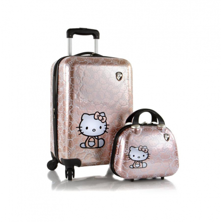 Set troler si geanta frumusete,Hello Kitty,Heys0