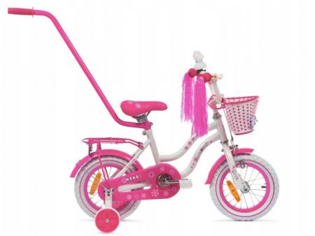 Bicicleta copii Sisi 12 inch, Mexller, roz0