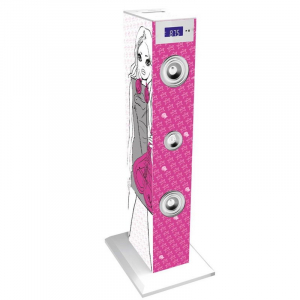 Sistem karaoke copii Buetooth cu microfon Rock Girl, 2x10 W, 85 cm, Bigben1