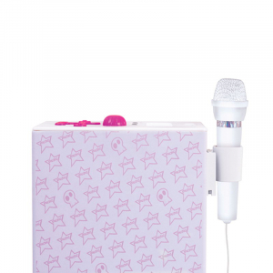 Sistem karaoke copii Buetooth cu microfon Rock Girl, 2x10 W, 85 cm, Bigben2