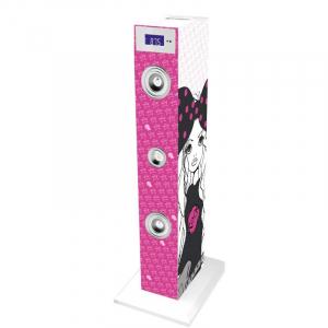 Sistem karaoke copii Buetooth cu microfon Rock Girl, 2x10 W, 85 cm, Bigben0