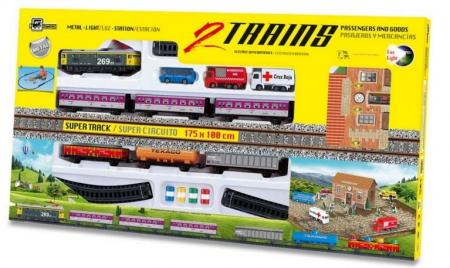 Trenulet electric de jucarie, Calatori si marfa, PEQUETREN 9001