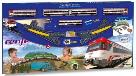 Trenulet electric de jucarie pentru copii, Renfe Cercanias PEQUETREN 6802