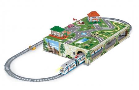 Trenulet electric de jucarie pentru copii, Tramvai Metropolitan PEQUETREN 107
