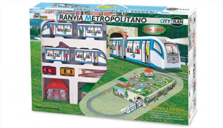 Trenulet electric de jucarie pentru copii, Tramvai Metropolitan PEQUETREN 1072