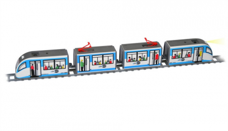 Trenulet electric de jucarie pentru copii, Tramvai Metropolitan PEQUETREN 1071