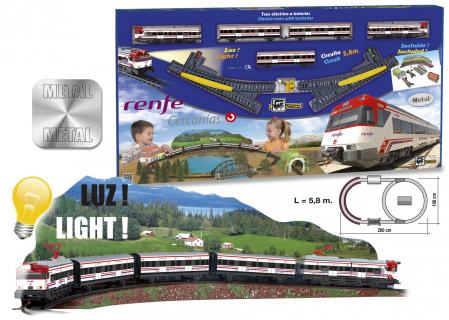 Trenulet electric de jucarie pentru copii, Renfe Cercanias PEQUETREN 6801