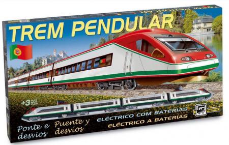 Trenulet electric de jucarie pentru copii, Trem Pendular PEQUETREN 7703