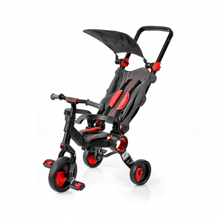 Tricicleta pliabila copii multifunctionala 4 in 1, Negru/Rosu, Toimsa Galileo, 10-36 luni1