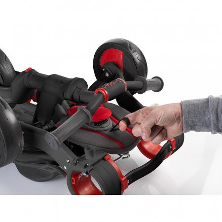Tricicleta pliabila copii multifunctionala 4 in 1, Negru/Rosu, Toimsa Galileo, 10-36 luni3