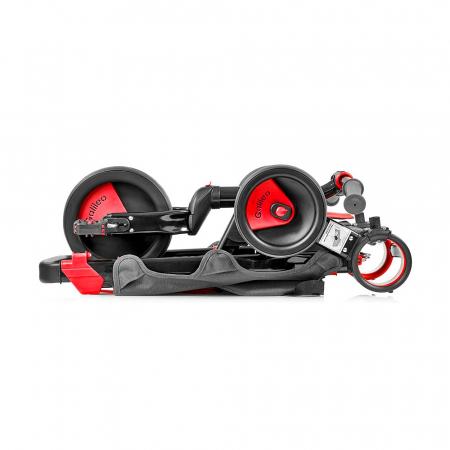 Tricicleta pliabila copii multifunctionala 4 in 1, Negru/Rosu, Toimsa Galileo, 10-36 luni4