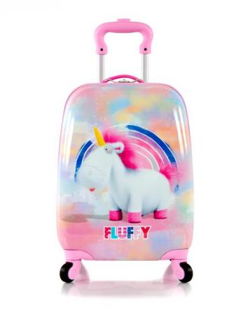 Troler calatorie ABS Copii, Fete, Heys Unicorn, Roz, 46 cm1