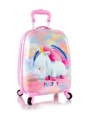 Troler calatorie ABS Copii, Fete, Heys Unicorn, Roz, 46 cm0
