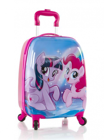 Troler calatorie ABS Copii - Fete, Heys, My Little Pony, Roz, 46 cm0