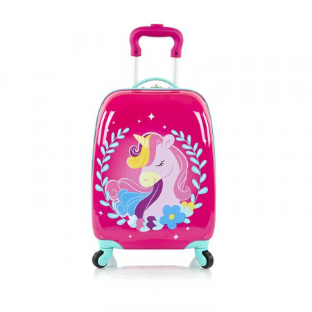 Troler calatorie ABS Copii - Fete, Heys, Unicorn, Roz, 46 cm1