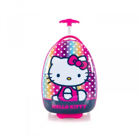 Troler copii calatorie ABS, Fete, Heys, Hello Kitty, Roz, 46 cm1
