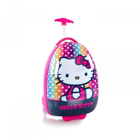 Troler copii calatorie ABS, Fete, Heys, Hello Kitty, Roz, 46 cm0