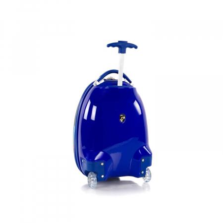 Troler copii calatorie ABS, Heys, Testoasele Ninja, Albastru, 46 cm3