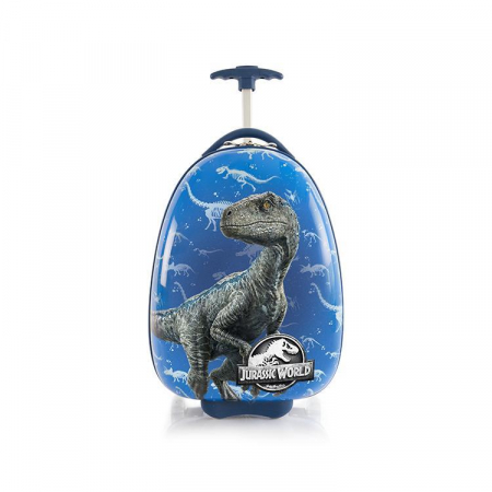 Troler ABS Copii, Heys, Jurassic World, Blue, 46 cm0