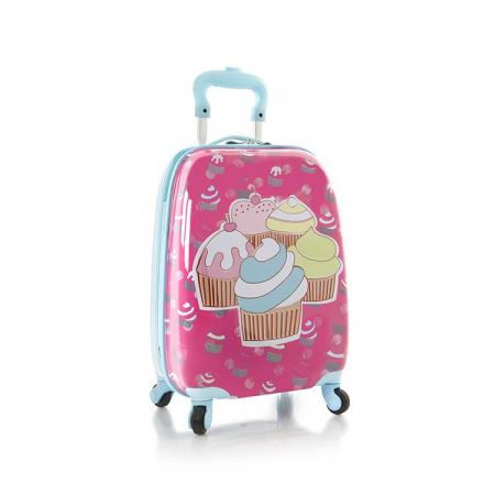 Troler ABS Copii, Heys, Cupcake, Roz, 46 cm0