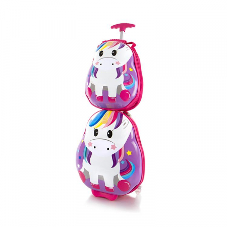 Set Troler ABS Copii si Ghiozdan, Fete, Heys Unicorn, Multicolor, 46CM1