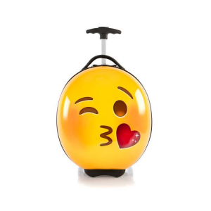 Troler copii calatorie ABS, Emoji Smiley Face Kiss, 41 cm, Heys
