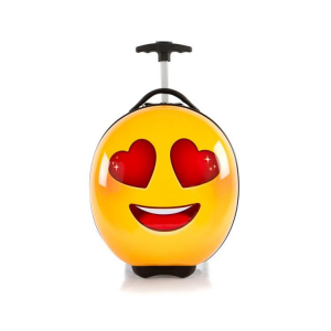 Troler copii calatorie ABS, Emoji Smiley Face Love, 41 cm, Heys0