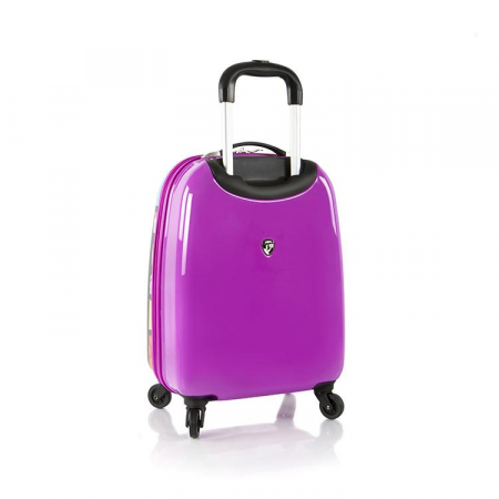 Troler copii calatorie ABS, Purple Hearts, 51 cm, Heys