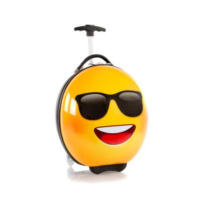 Troler copii calatorie ABS, Emoji Smiley Face Sunglasses, 41 cm, Heys0