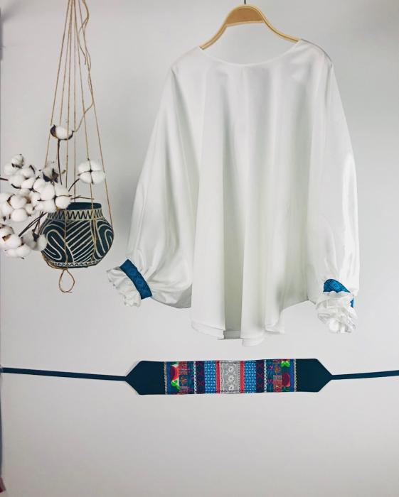 """Atelier Merci - Bluză """"Înțelepciunea este adevăr"""", culoare albă 0"""
