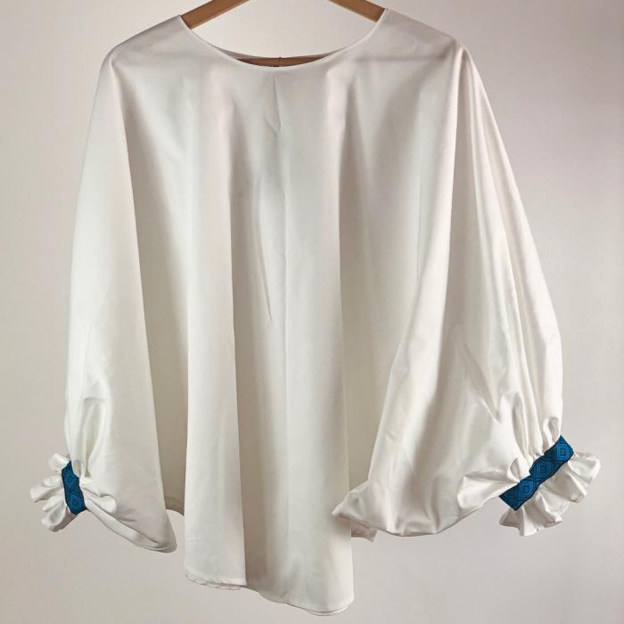 """Atelier Merci - Bluză """"Înțelepciunea este adevăr"""", culoare albă 1"""