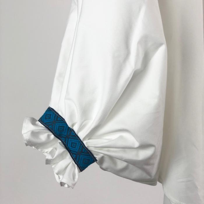 """Atelier Merci - Bluză """"Înțelepciunea este adevăr"""", culoare albă 2"""