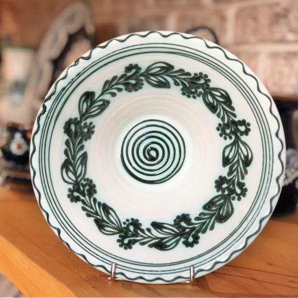Bol alb verde Ø 19 cm model 3 0