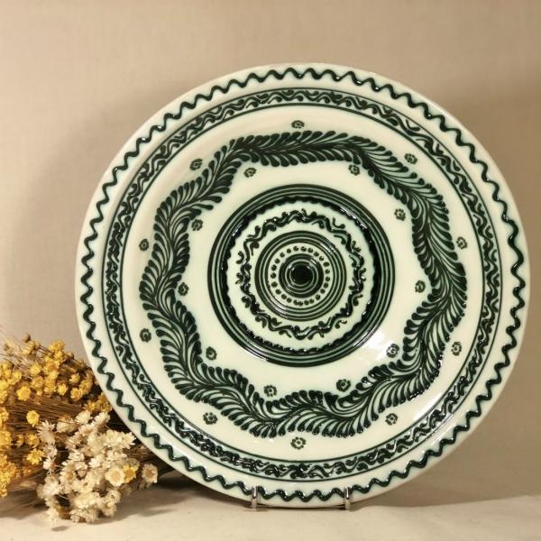 Castron alb-verde 29 cm model 1 0
