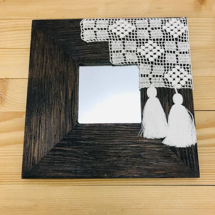 c u l c u ș - Tablou oglindă ramă pătrată 1