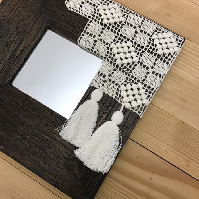 c u l c u ș - Tablou oglindă ramă pătrată 4
