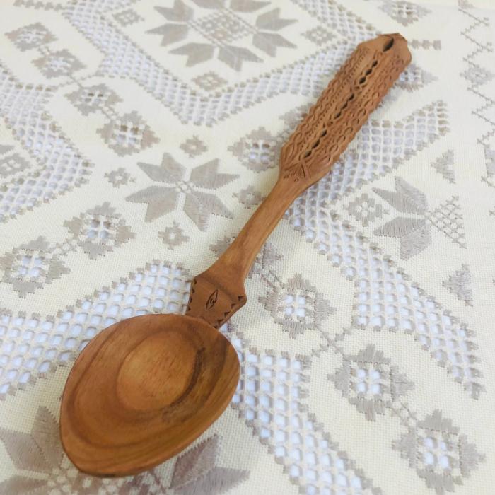 Lingura lemn cireş - Apa vie [5]