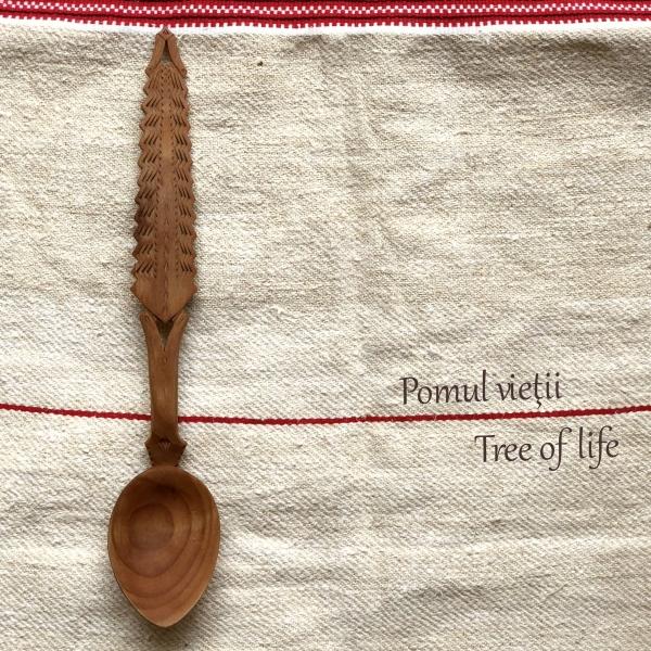 Lingură lemn cireș - Pomul Vieții 1