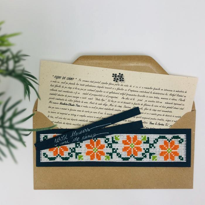 Semn în cartea ta clasic - Flori de câmp - model 3 0