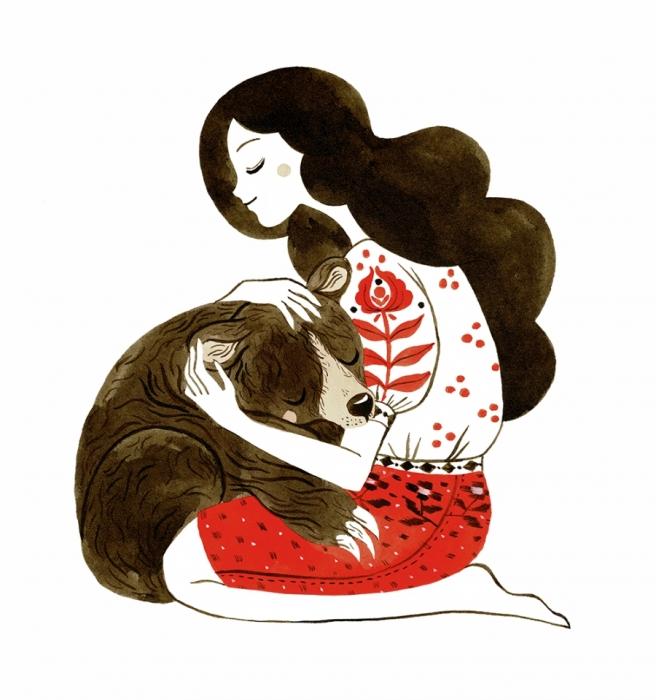 Felicitare - Îmbrățișare de urs 1